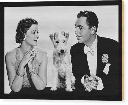 Myrna Loy Asta William Powell Publicity Photo The Thin Man 1936 Wood Print