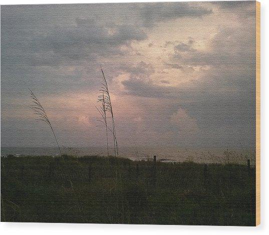 Myrtle Beach At Dusk Wood Print