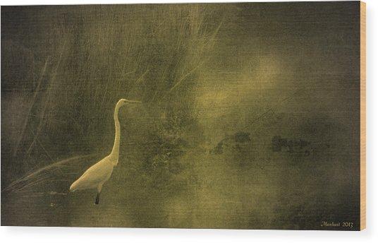 Myrtle Beach Crane Wood Print