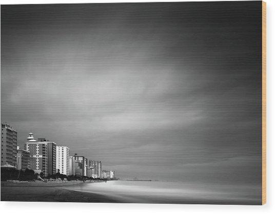 Myrtle Beach Ocean Boulevard Wood Print