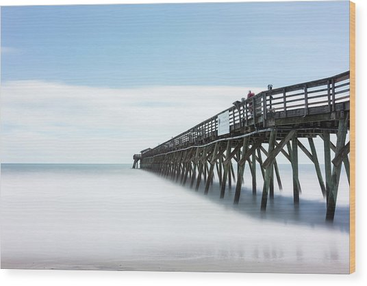 Myrtle Beach State Park Pier Wood Print