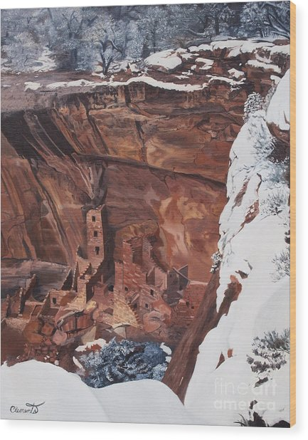 Mysterious City Of The Anasazi - Mesa Verde Wood Print
