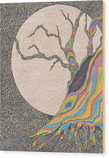 Mysterious Universe Wood Print by Rachel Zuniga