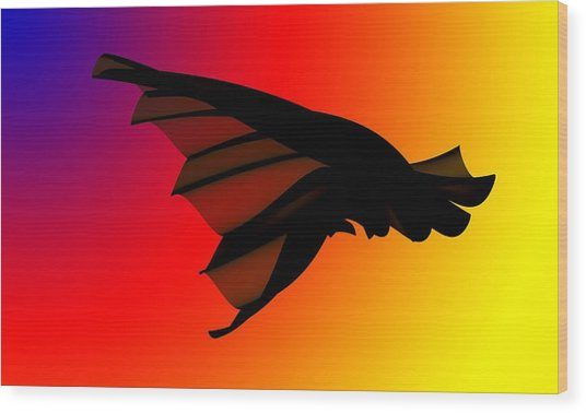 Mystery In Flight Wood Print