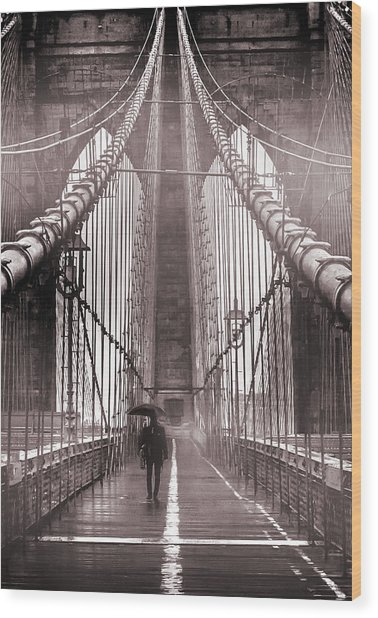 Mystery Man Of Brooklyn Wood Print
