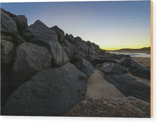 Mystic Beach Wood Print