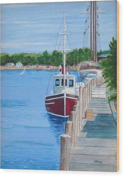 Mystic Dock Wood Print by Anthony Ross