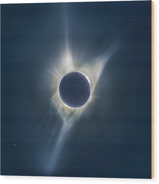 Mystic Eclipse  Wood Print