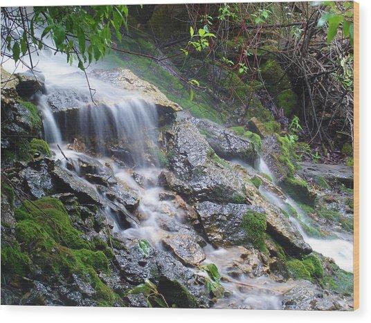 Mystic Falls II Wood Print by Jim Bachmeier