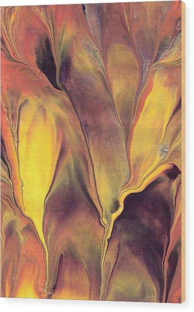 Mystic Fire 1 Wood Print by Linda Stevenson