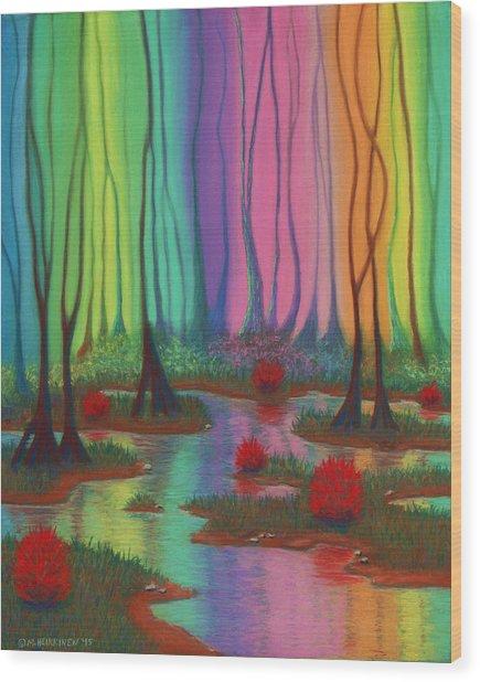 Mystic Marsh 01 Panel A Wood Print