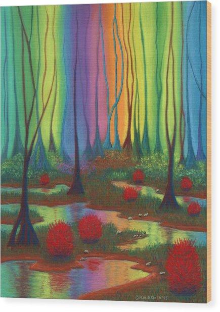 Mystic Marsh 01 Panel B Wood Print