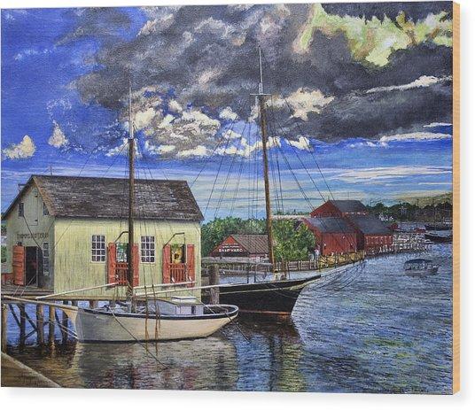 Mystic Seaport Ct Wood Print