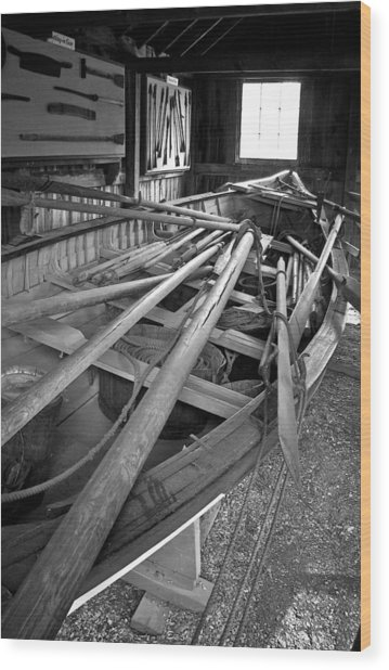 Mystic Seaport Whaling Boat Wood Print