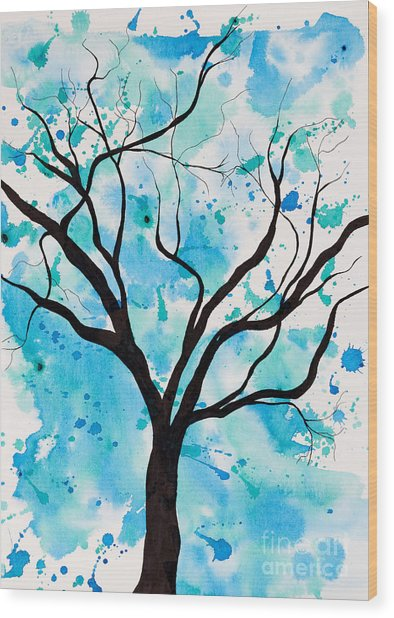 Mystic Tree Wood Print