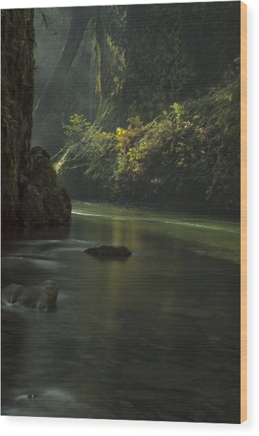 Mystical Canyon Wood Print