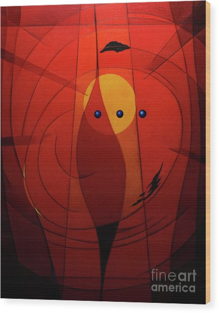 Mystical Composition Wood Print by Alberto DAssumpcao
