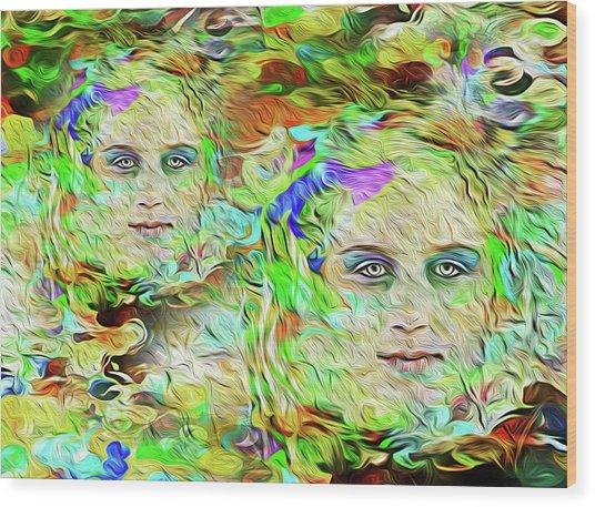 Mystical Eyes Wood Print