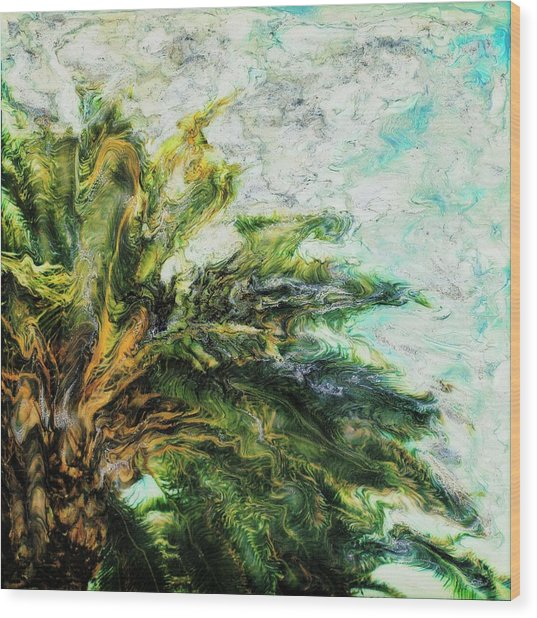Mystical Palm Wood Print by Paul Tokarski