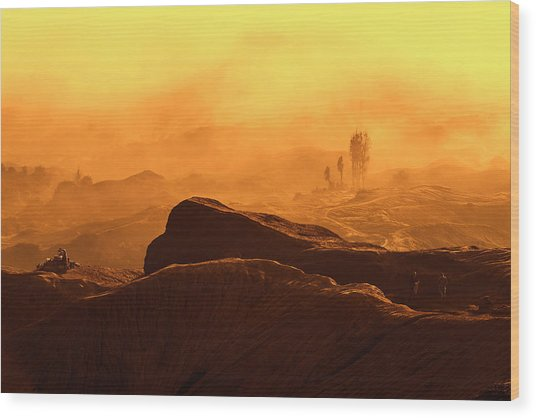 mystical view from Mt bromo Wood Print