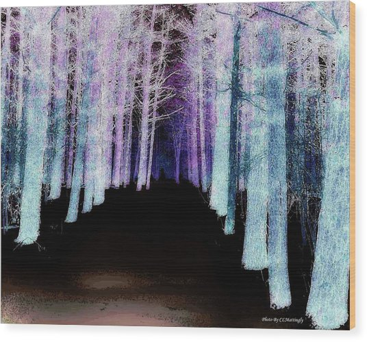 Mythical Forrest Wood Print