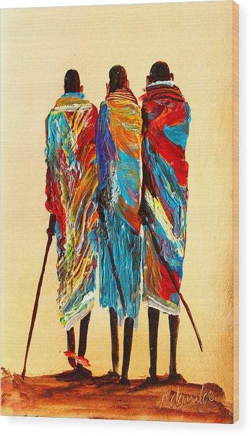 N 106 Wood Print