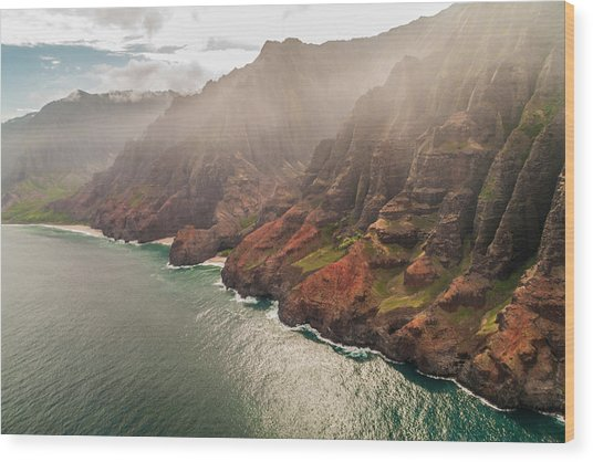 Na Pali Coast 4 - Kauai Hawaii Wood Print