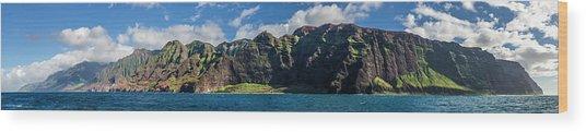Na Pali Coast Panoramic Wood Print