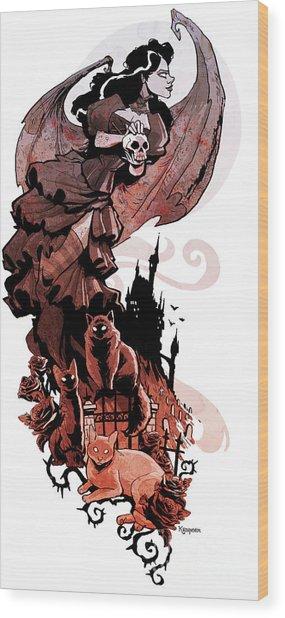 Nadja's Flight Wood Print by Brian Kesinger