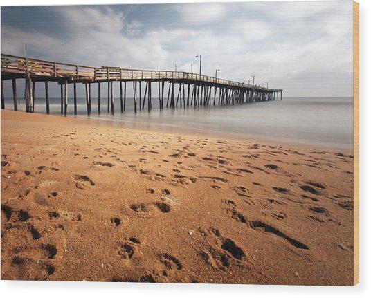 Nags Head Fishing Pier Wood Print