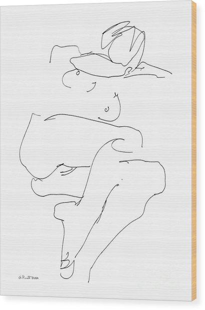 Naked-female-art-21 Wood Print