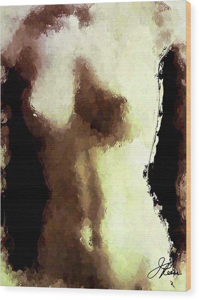 Naked Female Torso  Wood Print