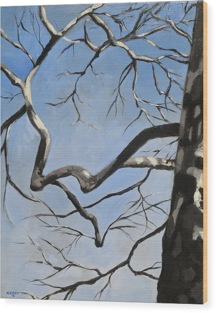 Naked Sycamore Wood Print