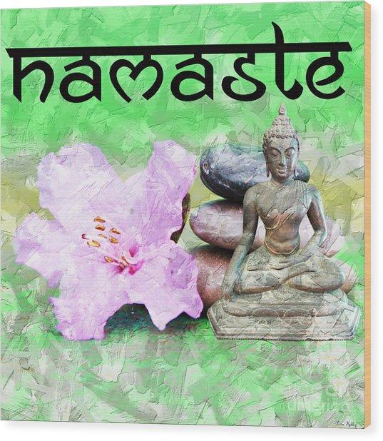 Namaste Buddha. V2 Wood Print