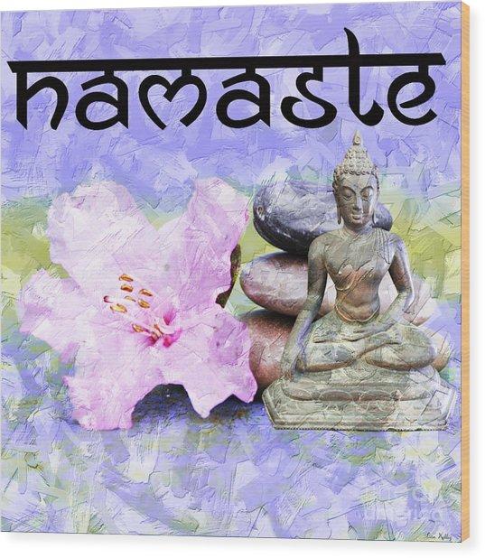 Namaste Buddha. V3 Wood Print
