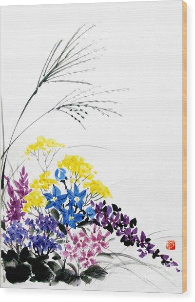 Nanakusa/ Autumn Seven Sisters Wood Print