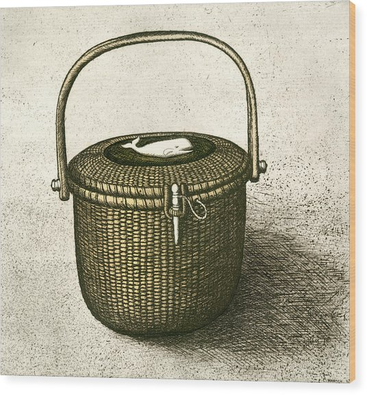 Nantucket Basket Wood Print