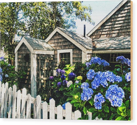 Nantucket Cottage No.1 Wood Print
