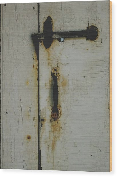 Nantucket Door Wood Print