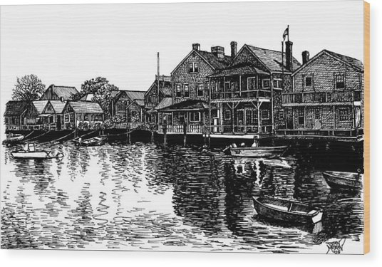 Nantucket Harbor Number Two Wood Print