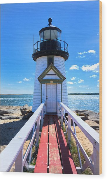 Nantucket Lighthouse - Y3 Wood Print