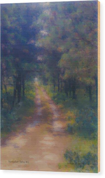 Nantucket Paths #1 Wood Print