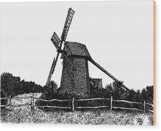 Nantucket Windmill Number Two Wood Print