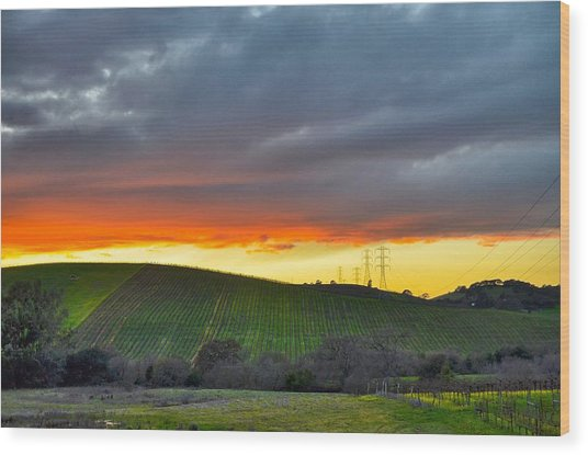 Napa Sunrise Wood Print
