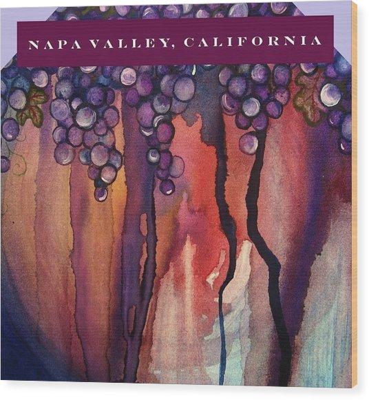 Napa Valley Wood Print