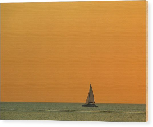 Naples Sunset Wood Print by Juergen Roth
