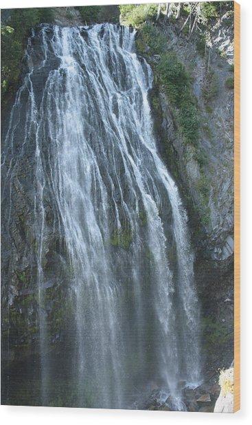Narada Falls Wood Print by Jessa Morissey