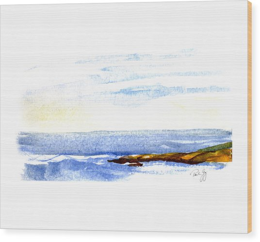 Narragansett Rocks Wood Print