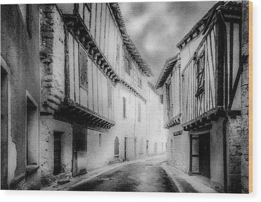 Narrow Alley Wood Print