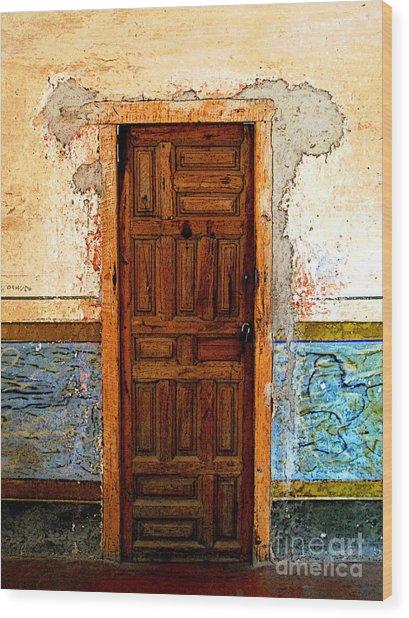 Narrow Door In The Blue Wall 2 Wood Print